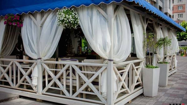 Уличные шторы с антимоскитной пропиткой Wood Luxury